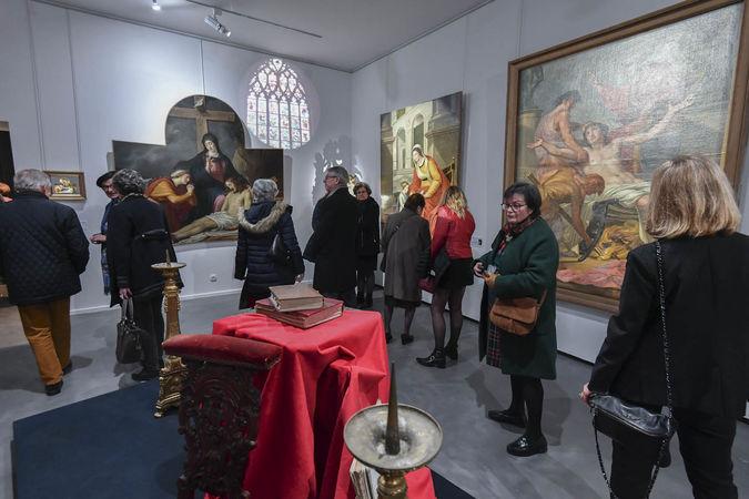 Inauguration de l'exposition Bernard d'Agesci - Commandes publiques et religieuses ©Darri