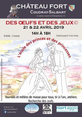 Affiche Des oeufs et des jeux - Château du Coudray-Salbart