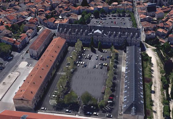 Vue aérienne du centre Du Guesclin