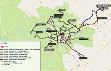 Plan du réseau urbain tanlib