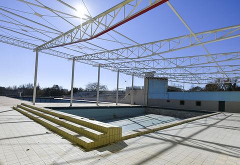 Visite de chantier de la piscine Pré Leroy
