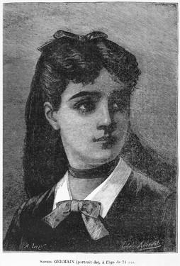 Portrait de Sophie Germain, à 14 ans