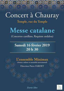 """Affiche du concert """"Messe catalane"""""""