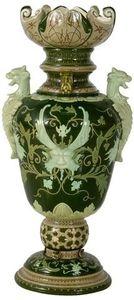 Vase en faïence de Partenay par Henri Amirault