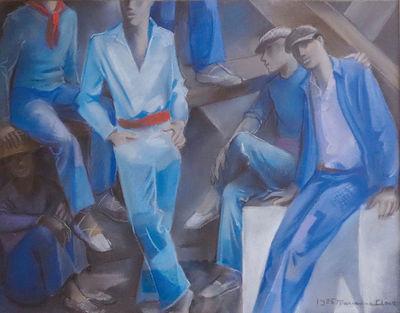 Le repos des maçons, 1926, Collection Musée Bernard d'Agesci