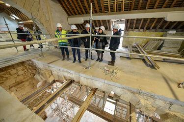 1er étage du conservatoire, visite de chantier du 8 mars 2019 ©Bruno Derbord