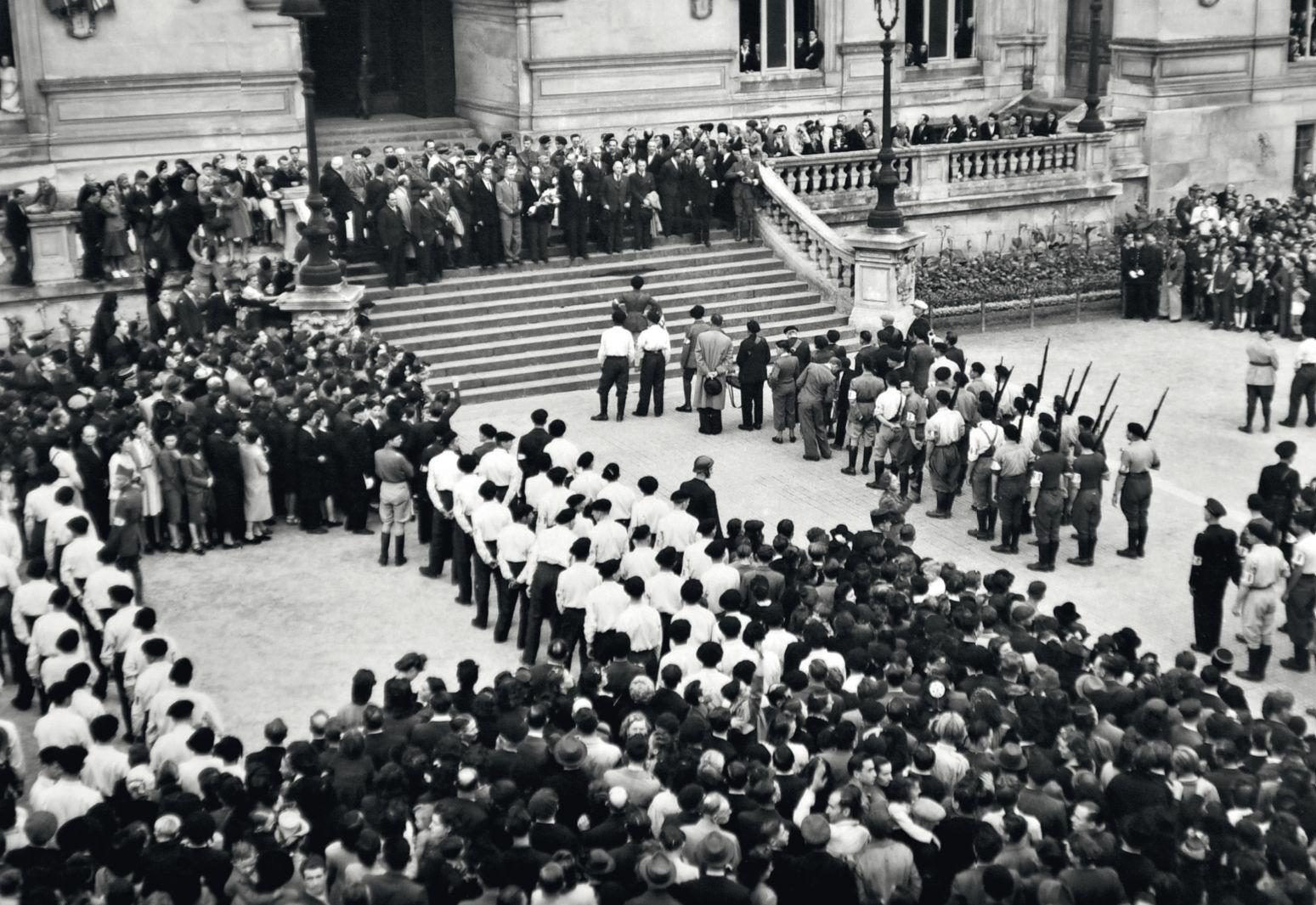 Hôtel de Ville de Niort lors de la libération