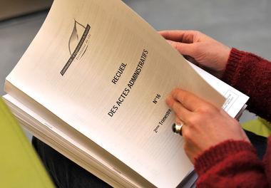 Recueil des actes administratifs © B.Derbord