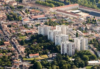 Le Pontreau/Colline Saint-André, nouveau quartier intégré au contrat de ville signé le 6 juillet 2015 © Réflex Haut