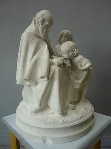Religieux instruisant les enfants, par François-Michel Pascal