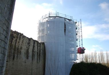 Château du Coudray-Salbart, travaux de restauration 2014