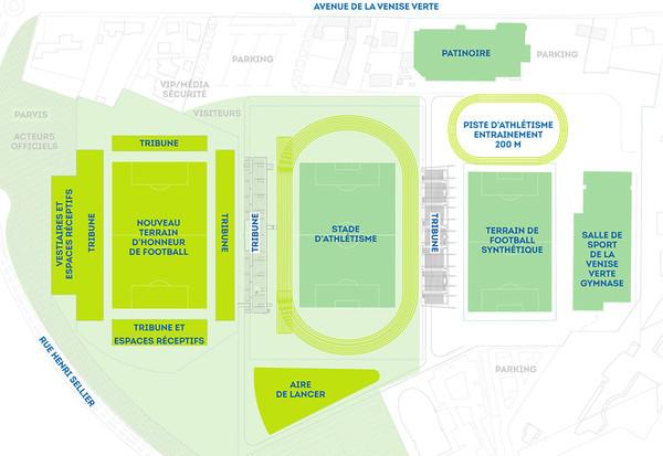 Plan du stade