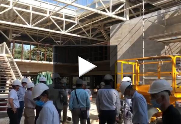 Visite du chantier de la médiathèque