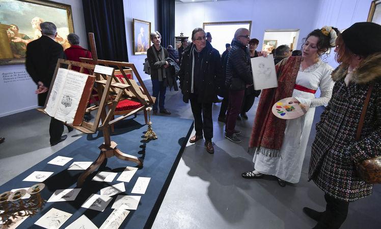 Inauguration de l'exposition Bernard d'Agesci - L'apprentissage académique ©Darri