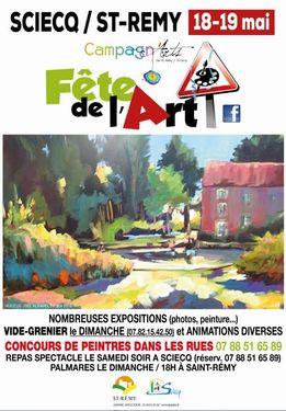 Affiche Fête de l'art - St-Rémy et Sciecq