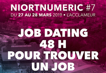 illustration de la manifestation Job dating Niort Numéric
