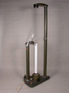 Appareil chute libre d'un cylindre à jet d'encre, donation Francis Gires