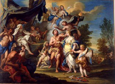 Jugement d'Atalante et Hippomène ou Allégorie de l'Amour, d'après Il Cavaliere (Sebastiano Conca)