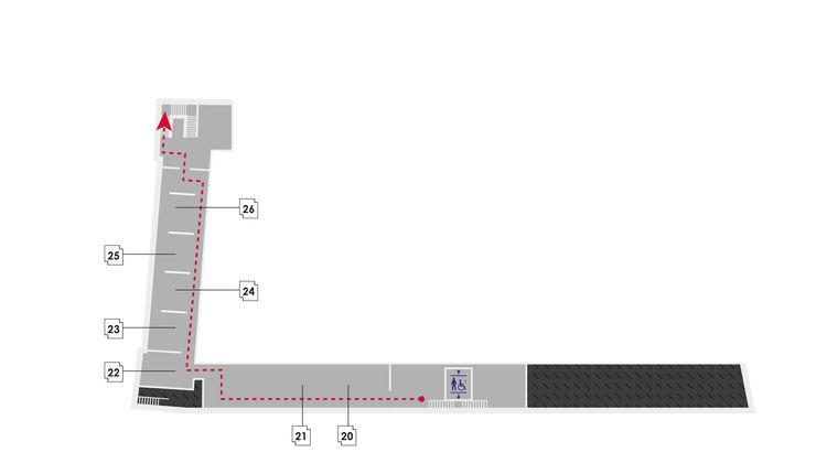 Plan du 2e étage du musée Bernard d'Agesci