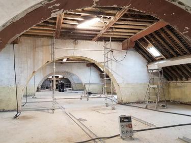 1er étage du conservatoire, visite de chantier du 8 mars 2019 ©Sylvie Méaille