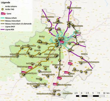 Plan du réseau inter-urbain tanlib