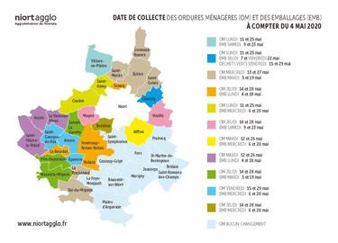Carte 40 communes