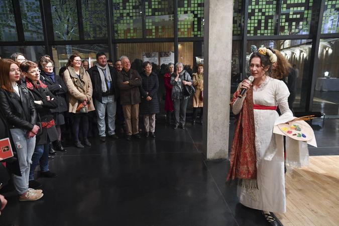 Inauguration de l'exposition Bernard d'Agesci - Présentation des visites théâtralisées ©Darri